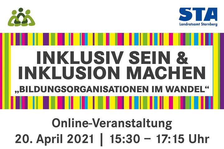 Online-Veranstaltung »Inklusiv sein und Inklusion machen - Bildungsorganisationen im Wandel«