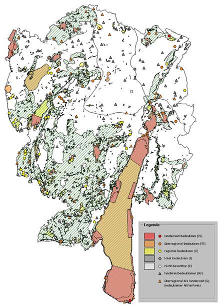 Bewertung der Lebensraum- und Punktkartierungen (ABSP 2007)