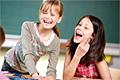 Mutige, lachende Kinder