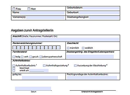 Beispielformular PDF