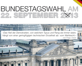 Externer Link: Informationsheft: Bundestagswahl am 22. September 2013