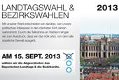 Externer Link: Informationsheft: Landtagswahl und Bezirkswahlen 2013