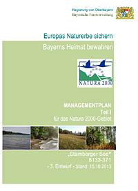 FFH Managementplan Deckblatt
