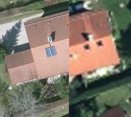 Luftbildvergleich 5 und 20cm