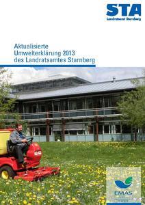 Umwelterklärung 2013 Titelseite