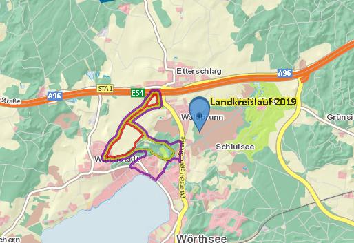 Externer Link: Karte zum Starnberger Landkreislauf 2014