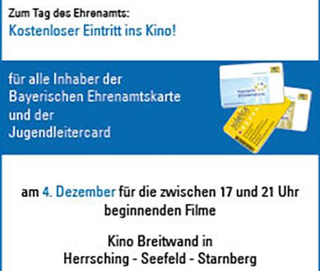 Mit Ehrenamtskarte und Juleica kostenlos ins Kino