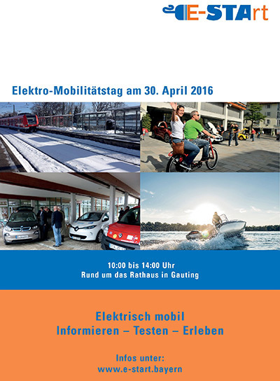 Plakat E-Mobilitätstag