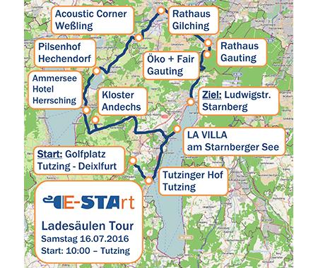 Verlauf E-STArt Ladesäulentour