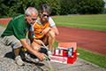 Strecken sind markiert - Training kann beginnen