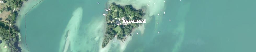 Roseninsel GIS Ausschnitt