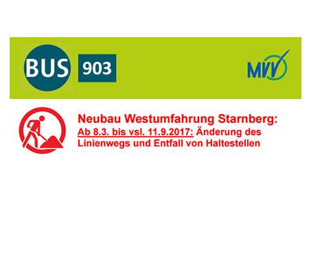 Line 903 Umleitung