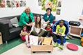 Bücherübergabe im Lebenshilfe Kinderhaus Gauting