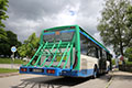 Bus mit Fahrradträger