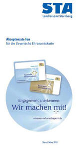 Flyer Bayerische Ehrenamtskarte