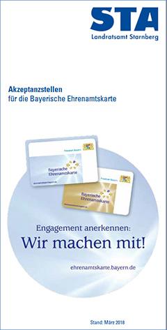 Flyer Bayerische Ehrenamtskarte - Alle Akzeptanzstellen