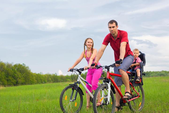 Familie mit Fahrrad
