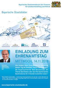 Ehrenamt Staatsbaeder Plakat