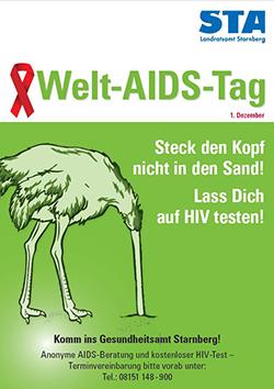 Plakat Welt AIDS Tag