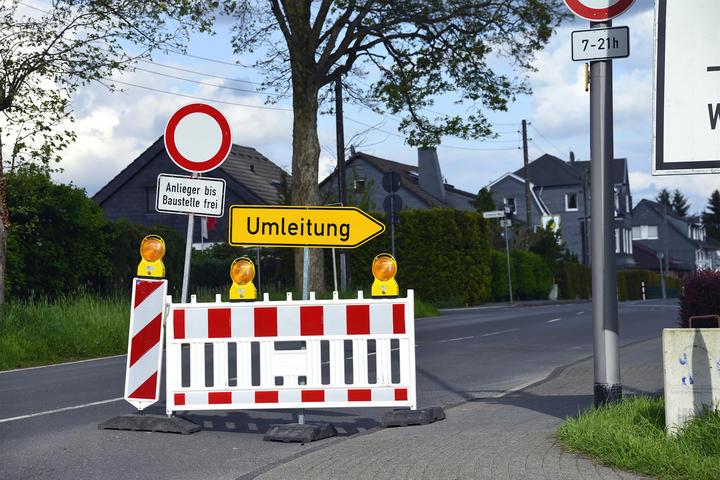 Verkehrsbeeinträchtigung Baustelle