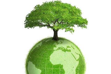 Erde mit Baum
