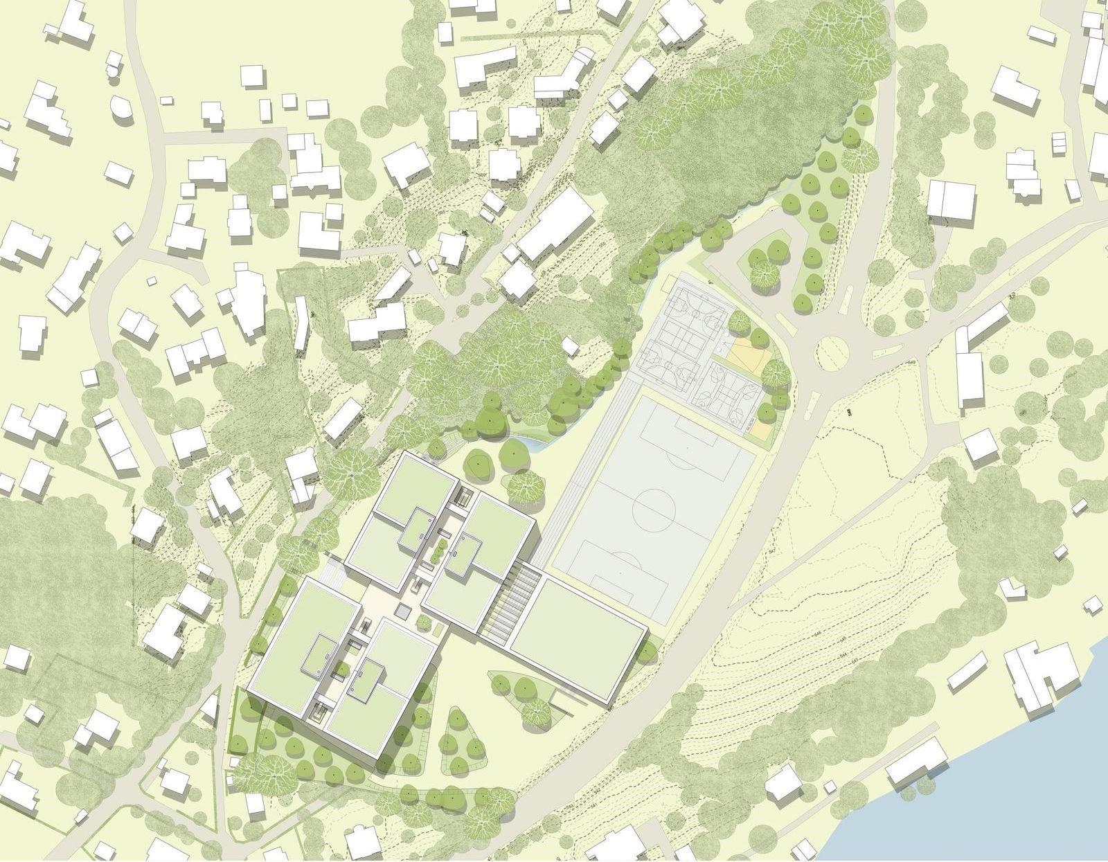 Gymnasium Herrsching Architekturplan