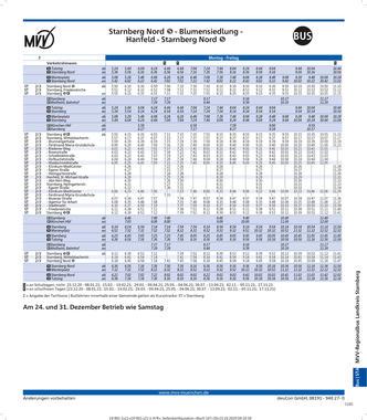 Fahrplan 975 ab 13.12.2020