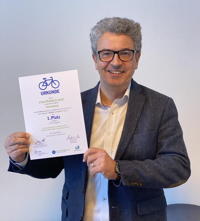 Stadtradeln Bayern Auszeichnung 2020 Vilsmayer