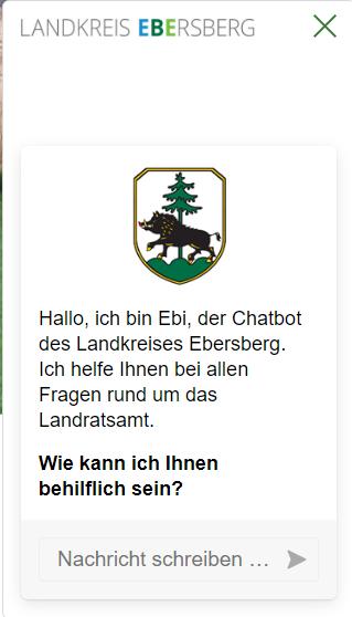 Externer Link: Landratsamt Ebersberg » ChatBot