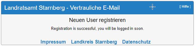 SecureMail Bestätigung
