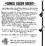 Songs gegen Sucht - Inlay 1